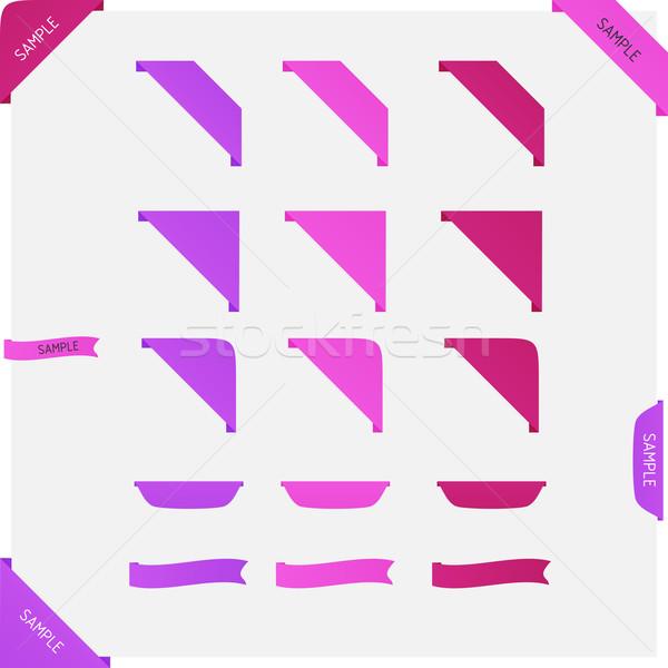 Vector lint ingesteld schone roze kleur Stockfoto © filip_dokladal