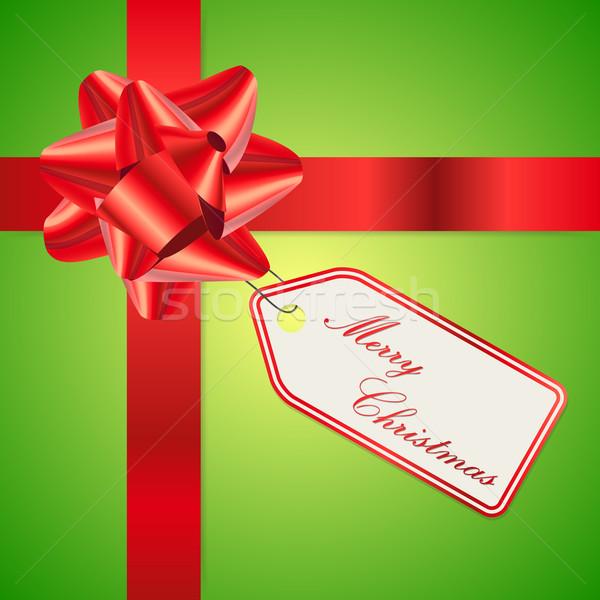 Vecteur carte de vœux propre couleur joyeux Noël Photo stock © filip_dokladal