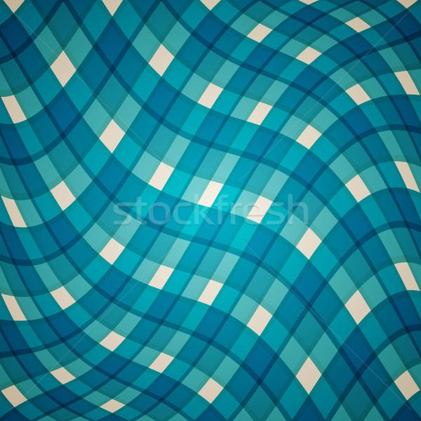 Vettore abstract blu clean onda deformata Foto d'archivio © filip_dokladal