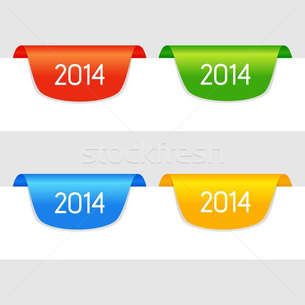 вектора год набор чистой цвета Сток-фото © filip_dokladal