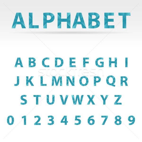 Stockfoto: Vector · abstract · alfabet · Blauw · nummers · brief