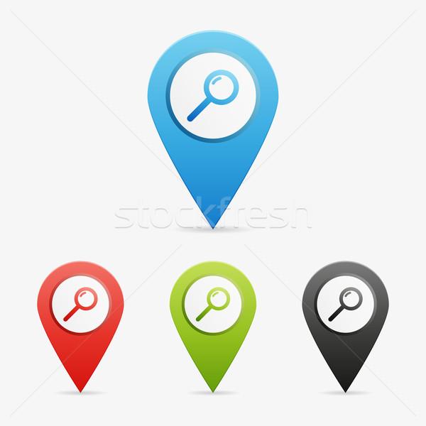 Vecteur recherche propre couleur symbole Photo stock © filip_dokladal