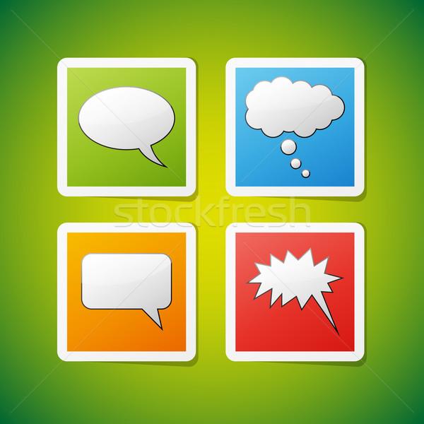 Vector speech bubbles icons Stock photo © filip_dokladal