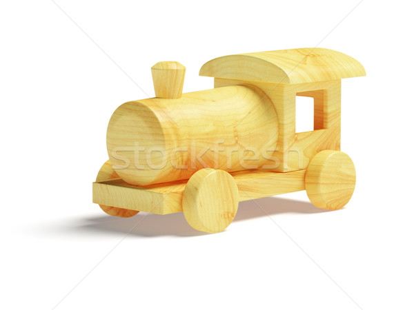Houten speelgoed trein witte speelgoed schone hout Stockfoto © filipok