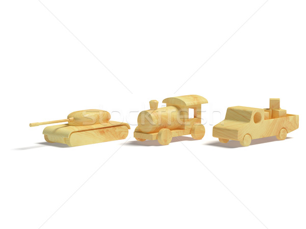 Wooden toys Stock photo © filipok