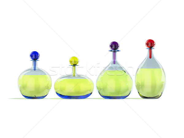 Glass containers with liquid Stock photo © filipok