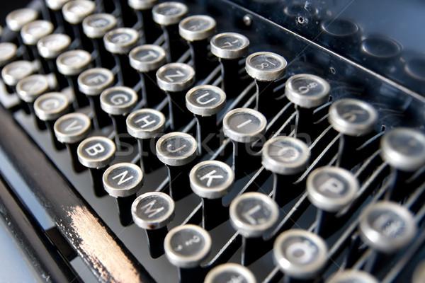 старые машинку тип письме ключами Сток-фото © filmstroem