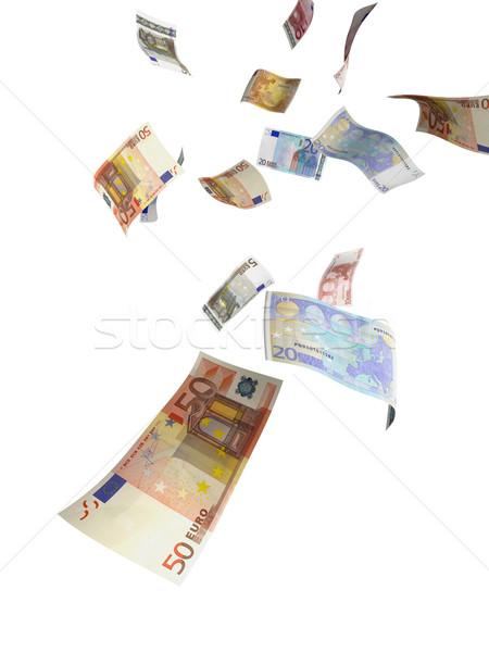 Argent pluie euros différent relevant Photo stock © filmstroem