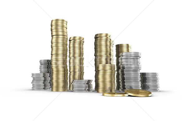 монеты вверх доллара монетами изолированный Сток-фото © filmstroem