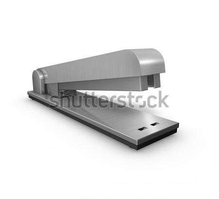 стэплер металл служба инструментом изолированный белый Сток-фото © filmstroem