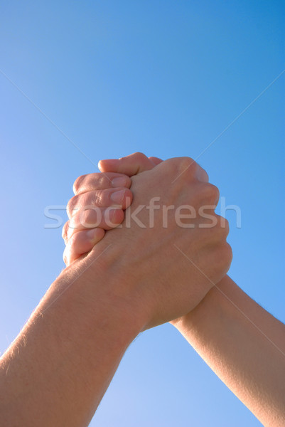 Segítő kéz kézfogás szimbólum segítség befejezés szerződés Stock fotó © filmstroem