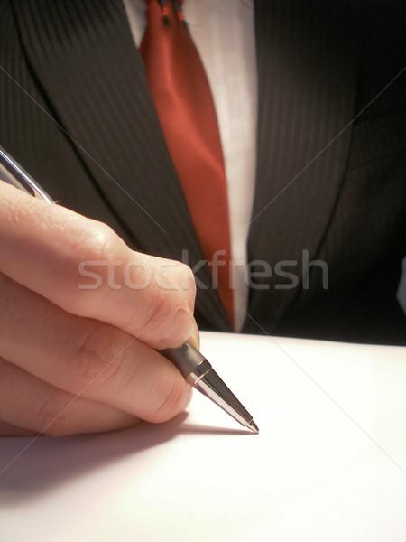 подписи деловой человек подписания договор бизнеса служба Сток-фото © filmstroem