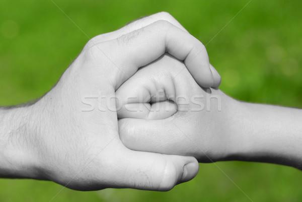 стороны кулаком черно белые детей Сток-фото © filmstroem