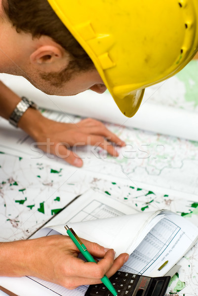 строителя планов документы карт Сток-фото © filmstroem