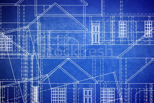 план Гранж синий печать стиль Сток-фото © filmstroem