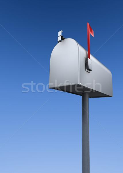 почтовый ящик закрыто металл флаг Blue Sky Сток-фото © filmstroem