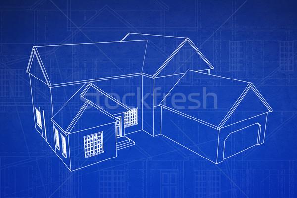Diagrama escuro azul imprimir estilo piso Foto stock © filmstroem