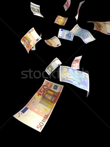 Euro para yağmur farklı düşen Stok fotoğraf © filmstroem
