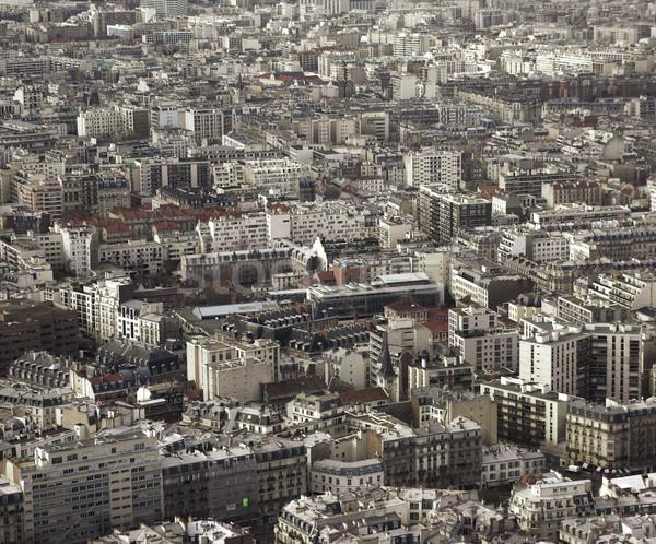 Париж антенна Эйфелева башня здании городского Сток-фото © filmstroem