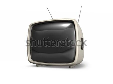 3D ретро телевизор телевизор изолированный белый Сток-фото © filmstroem