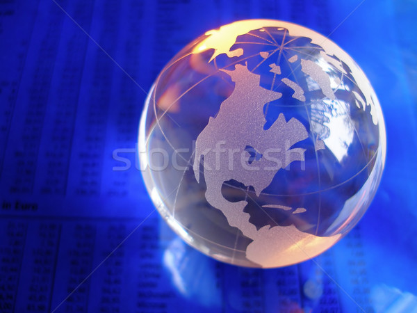 стекла мира бизнеса газета Focus Сток-фото © filmstroem