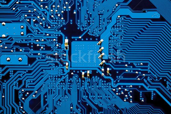 Kék nyáklap számítógép áramkör citromsárga fut Stock fotó © filmstroem