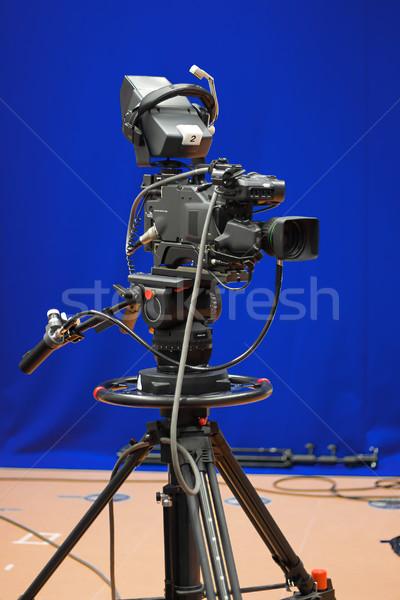 телевизор камеры студию профессиональных вещание телевидение Сток-фото © filmstroem