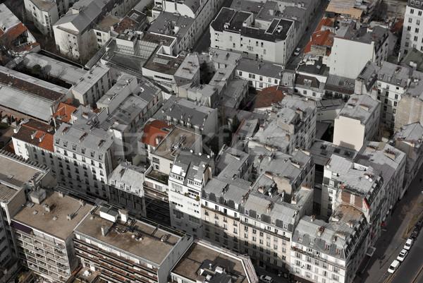 Париж антенна Эйфелева башня здании Сток-фото © filmstroem