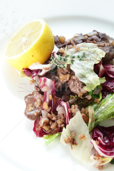 Fresco saboroso salada branco prato cozinha Foto stock © fiphoto