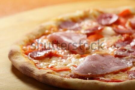ホット おいしい イタリア語 ピザ チーズ ソース ストックフォト © fiphoto