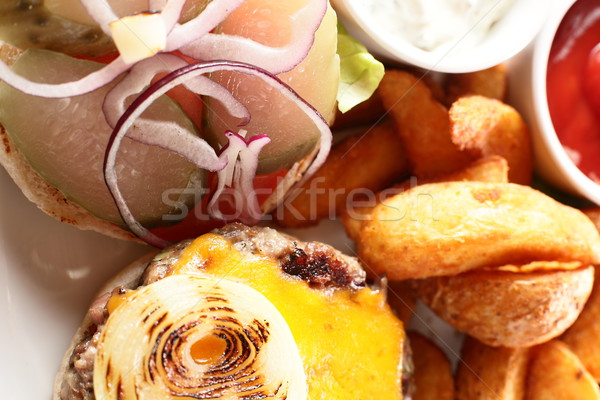 Patates et sıcak lezzetli gıda Stok fotoğraf © fiphoto