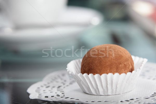sweet truffle on white papper bag Stock photo © fiphoto