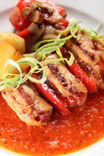 Hús körítés forró ízletes étel étterem Stock fotó © fiphoto