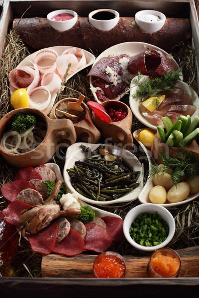Carne enfeite fresco saboroso comida fundo Foto stock © fiphoto