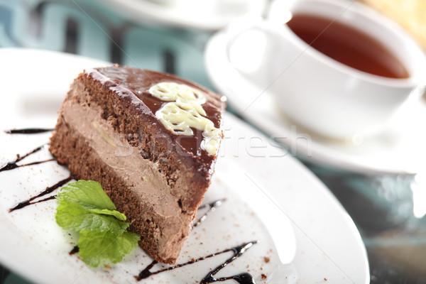 Doce bolo prato saboroso comida chocolate Foto stock © fiphoto