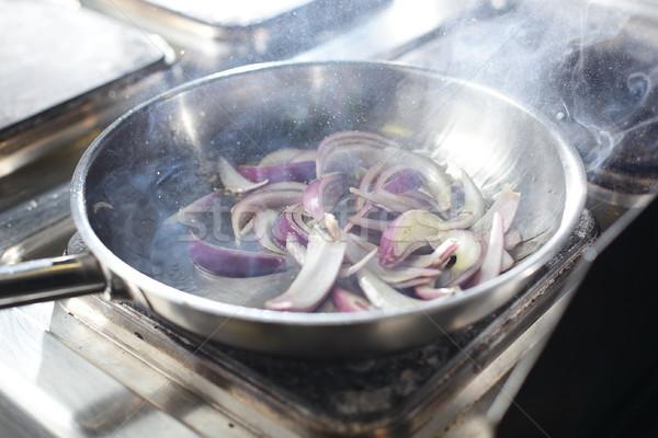 Cozinhar cozinha saboroso comida mãos mão Foto stock © fiphoto