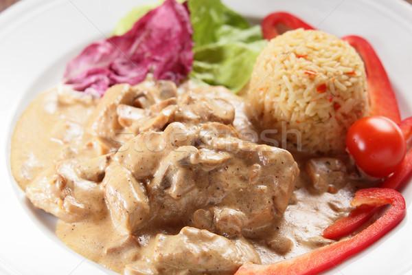 Et garnitür taze lezzetli gıda restoran Stok fotoğraf © fiphoto