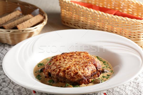 Barış et beyaz yemek büyük Stok fotoğraf © fiphoto