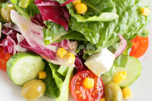 Saboroso salada legumes fresco europeu diferente Foto stock © fiphoto