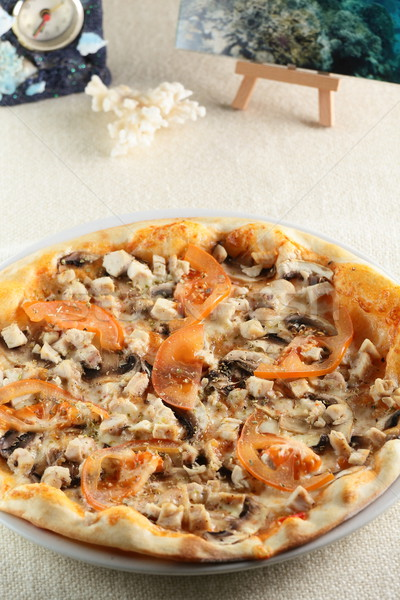 新鮮な ホット ピザ 表 食品 レストラン ストックフォト © fiphoto
