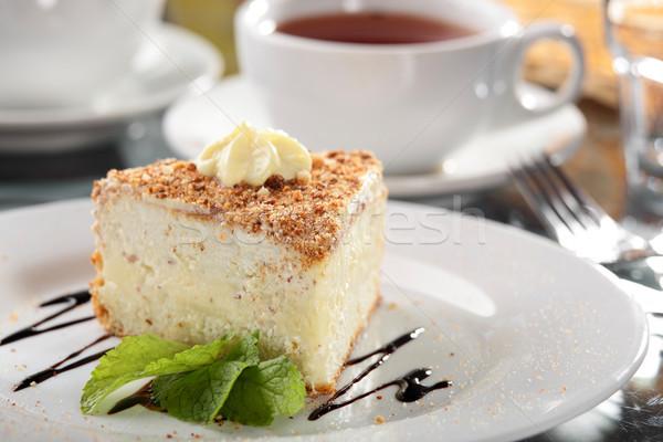 Tatlı kek yemek lezzetli gıda çikolata Stok fotoğraf © fiphoto