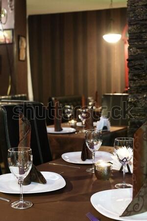 Marka yeni modern mutfak iç şık mutfak Stok fotoğraf © fiphoto