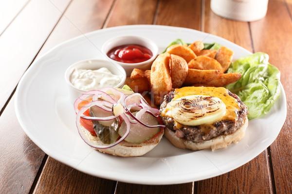 Batata carne quente saboroso comida Foto stock © fiphoto