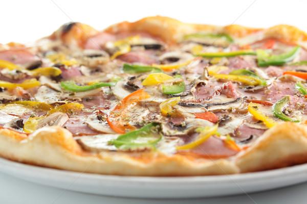 Quente saboroso italiano pizza queijo molho Foto stock © fiphoto