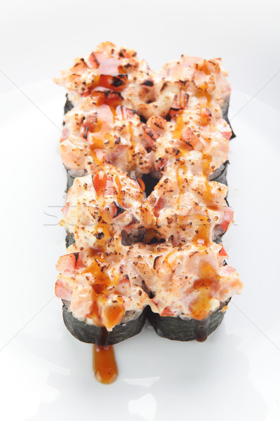 Saboroso asiático sushi branco fresco formiga Foto stock © fiphoto