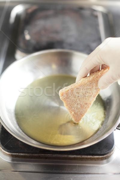 Pişirme mutfak lezzetli gıda el ev Stok fotoğraf © fiphoto