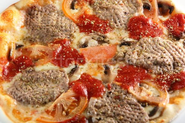 Fresco quente pizza tabela comida queijo Foto stock © fiphoto