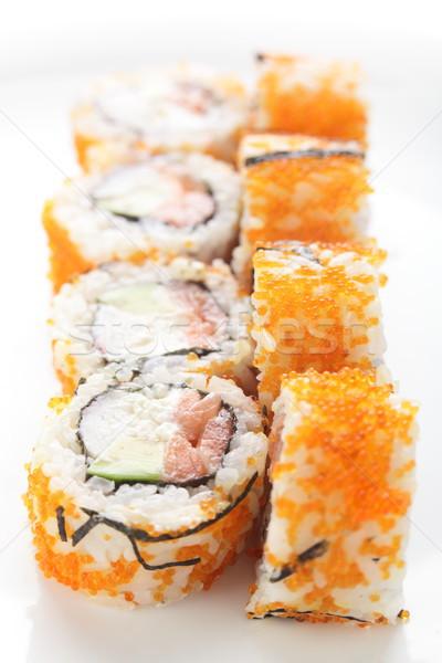 おいしい アジア 寿司 白 新鮮な アリ ストックフォト © fiphoto