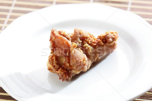 鶏 脚 ホット 白 皿 ストックフォト © fiphoto