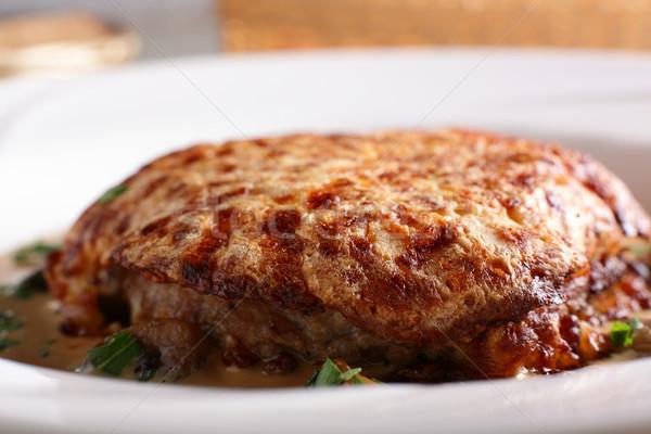 平和 肉 白 皿 ビッグ ストックフォト © fiphoto